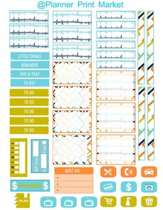 Passion Planner Weekly Kit Plans for Miami by PlannerPrintMarket