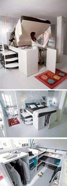Para ahorrar espacio, una idea Súper útil que hará ver mejor tu habitación.