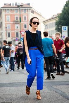 Street style trend 2014 blue