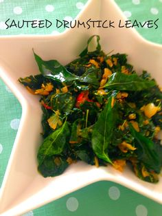 Diabetic Friendly Recipe – SAUTEED DRUMSTICK LEAVES Delighted to get some bunch of drumsticks leaves from the vegetable vendor today. Back home, there is a huge tree where my mum resides and she would make many different variations like pickles, soups, saute or stir-fry, chutney, juice, curries etc.. A drumstick tree in the courtyard is a common sight in Southern India.