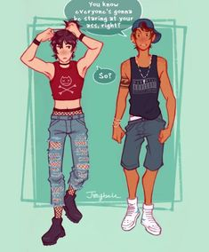 I don't think Lance likes other people checking Keith out......he jelly!!