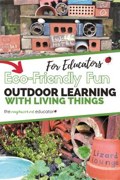Early Childhood Education - How to encourage outdoor learning by attracting living things in outdoor play environments. Be inspired with these projects & play ideas for early years educators, teachers and homeschool. Early Learning, Fun Learning, Preschool Activities, Outdoor Activities, Summer Activities, Outdoor Learning Spaces, Family Day Care, Early Childhood Education, Early Education