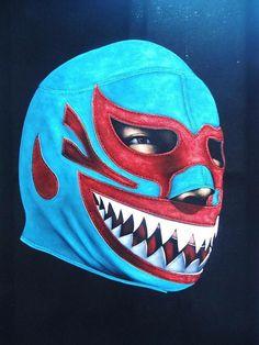 Mil Mascaras wrestling black velvet oil by VelvetPaintings on Etsy, $135.00