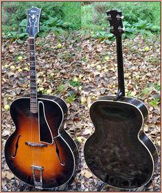 Arch-top tenor guitar