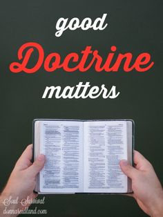 """Good Doctrine Matters"" (9.12) #doctrine #theology"