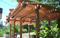 Desain Canopy Rangka Kayu
