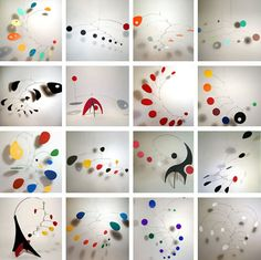 We have lots of mobiles in our house; sometimes I forget they are there. I shou - Sculpture - Print the sulpture yourself - We have lots of mobiles in our house; sometimes I forget they are there. I should spend more time lying down looking up. Alexander Calder, Mobile Art, Hanging Mobile, Mobile Sculpture, Sculpture Art, Atelier Architecture, Sculpture Lessons, Ecole Art, Kinetic Art