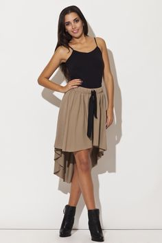 Look at this Katrus Beige Hi-Low Skirt on today! Skater Skirt, Midi Skirt, Hi Low Skirts, Royals, That Look, Ballet Skirt, Beige, Womens Fashion, Shopping