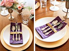 If you're using your linen napkins and good flatware, you're out to make an impression. To create a finished look, consider wrapping the two together with ribbon.