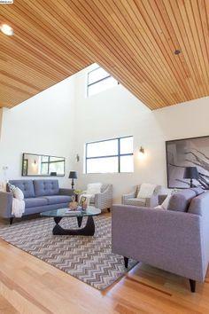 Wood panel ceiling