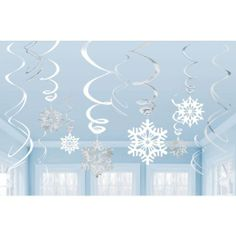 Amazon.com - Snowflake Value Pack Hanging Swirls - Toys And Games