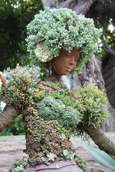 Gardens of tomorrow: The rise of succulents Face Planters, Garden Planters, Garden Statues, Garden Sculpture, Garden Center Displays, Plant Aesthetic, Garden Whimsy, Container Plants, Ikebana
