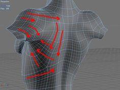 3D 게임그래픽 얼굴 와이어 흐름 자료입니다. : 네이버 블로그