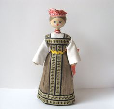 Russian Doll Slavic Art Figure European Folk Art by TheHiddenGrove