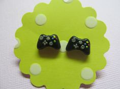 Polymer Clay Xbox Controller Stud Earrings Xbox by SparklyPotatoe