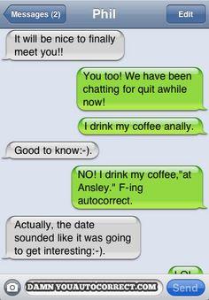 funny auto-correct texts - Coffee Date