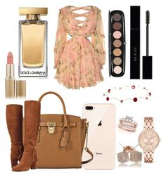 """Fall"" by zoerosalie on Polyvore featuring Zimmermann, MICHAEL Michael Kors, L'Oréal Paris, Marc Jacobs, Gucci and Dolce&Gabbana"