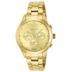 Invicta 12466 Women's Angel Gold Plated Solid Stainless Steel Bracelet Watch,    #Invicta,    #Invicta12466
