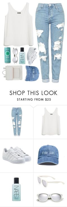 """""""♡ Ade's 3k Set Challenge ♡"""" by alannah-noelle ❤ liked on Polyvore featuring Topshop, MANGO, adidas Originals, NARS Cosmetics, Yves Saint Laurent, ALDO, AlannahDoesSimple and ades3ksetchallenge"""