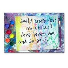 daily reminder oh child Postcards (Package of 8) on CafePress.com