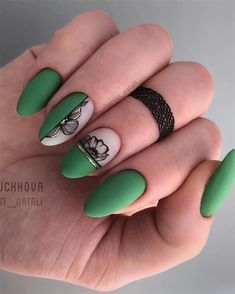 100+ Elegant Black Nails Design Ideas Exceptional Look 2019 - Page 93 of 102 - Soflyme
