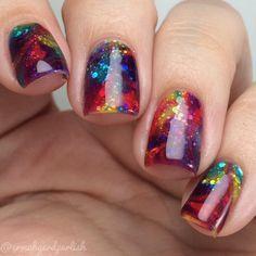 nails, nail art, and nail polish image Get Nails, Fancy Nails, Hair And Nails, Sparkly Nails, Silver Glitter, Glitter Nails, Fabulous Nails, Gorgeous Nails, Pretty Nails