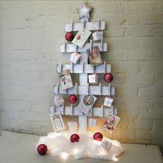 Albero di calendario Avvento Natale in legno di SlippinSouthern