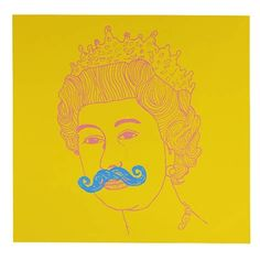 Queen - Yellow (Silkscreen Signed Limited Edition of 125) by Damien Weighill