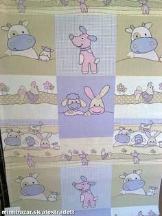 Detská bavlna látka metráž zvieratká