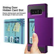 Samsung Galaxy Note 8 Wallet Case Hidden Pocket Card Holder Hybrid Dual Layer