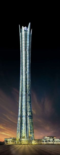 Burj Al Alam Tower, Dubai, UAE by Nikken Sekkei Architects :: 108 floors, height 510m :: never completed