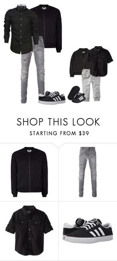 """""""Baby boy like Daddy 💙"""" by zsugabubus ❤ liked on Polyvore featuring Topman, Pierre Balmain, Calvin Klein, adidas, men's fashion and menswear"""