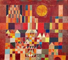 Afbeelding Paul Klee - Burg und Sonne