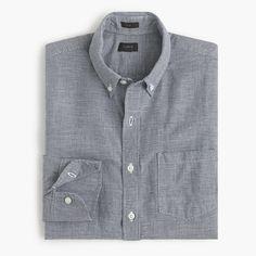 J.Crew - Slim Irish linen shirt in houndstooth