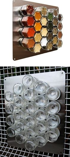 Plate Base for Magnetic Spice Jars | Easy Kitchen Storage Ideas for Small Spaces | Genius Kitchen Organization Ideas Dollar Store