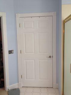 Good Doors White. New Brushed Nickel Door Hardware.