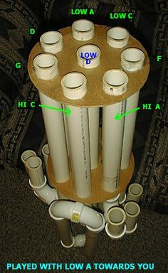 Percussion idea, kinda looks like one of the PVC instruments that the Blue Man group plays Pvc Pipe Instrument, Instrument Craft, Percussion Instrument, Homemade Musical Instruments, Music Instruments, Blue Man Group, Pvc Projects, School Projects, Music Machine