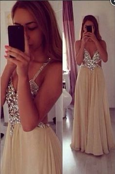 Long Chiffon Prom Dress,Beading Evening Dress,Party Dress For Women