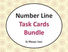Number Line Task Cards Bundle https://www.teacherspayteachers.com/Product/Number-Line-Task-Cards-2198927 #math #numberline #bundle #addition #subtraction #multiplication #division #TaskCards #tpt #teacherspayteachers #mathematics