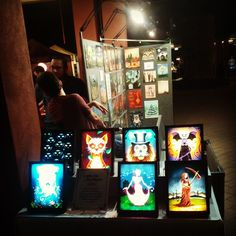 """Lighting up the Chandler 3rd Friday Art Walk."""