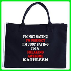 Im Perfect. The Best. Im A Freaking Awesome Kathleen - Tote Bag - Top handle bags (*Amazon Partner-Link)