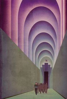 "Aldous Huxley, ""Brave New World"", illustrated by Finn Dean."