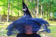 A personal favorite from my Etsy shop https://www.etsy.com/listing/248995397/witch-hat-black-various-design-tule