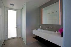 Bathroom, Glass Shower, Elegant Modern Interior in Southern California