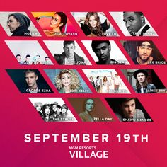 September 2015 - Daytime Village at the 2015 iHeartRadio Music Festival returns to Las Vegas on Saturday, September 19, 2015 at the MGM Resorts Village, and you can be there to enjoy an amazing lineup of artists!