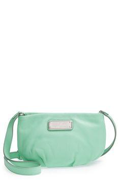 Such a pretty green handbag.