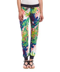 Look at this Blue & Green Exotic Palms Joggers on #zulily today!