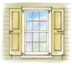 How to Hang Exterior Shutters | Exterior shutters, Storms and Exterior