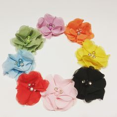 A personal favorite from my Etsy shop https://www.etsy.com/listing/477509290/chiffon-flower-clips-baby-clips-toddler