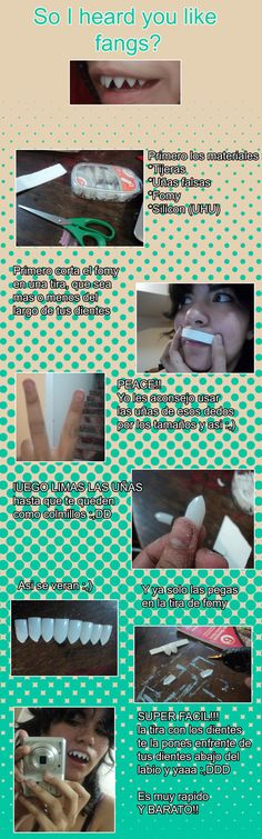 You don't need talk english to understand! xD IS SO EASY!! all you need is Scissors glue uhu could be Fake nails and foamy :,) Tutorial for cosplays like Viral, Grell, Soul AND MORE Thanks to becau...